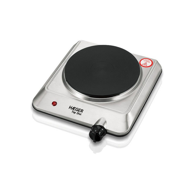 Electric Hot Plate Haeger Top Disc Stainless steel 1 Stove 1500W Stoves and hobs