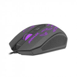 Gaming Mouse Fury Brawler 1600 DPI Black Mouse pads and mouse