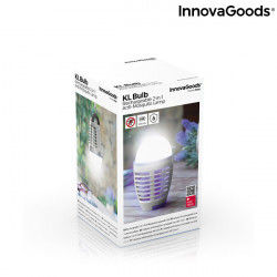 Mosquito Repellent Lamp with LED Kl Bulb InnovaGoods 2-in-1 Rechargeable Insect repellers