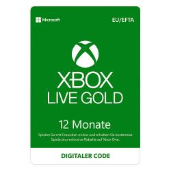 Microsoft Xbox Live Gold Membership 12 Monate Software