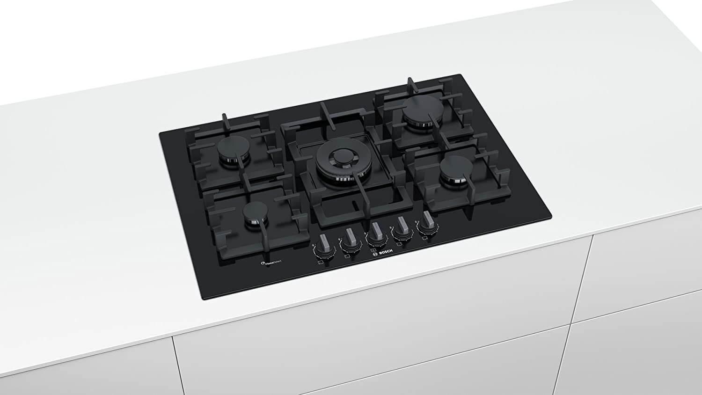 Bosch Gaskochfeld 75 cm 5 Flammig Glaskeramik PPQ7A6B90 3